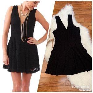 ✳️ Free People Black Lace Mini Night Out Dress
